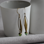 BrassEarrings_LongLeafBead_Green_Small_AW15